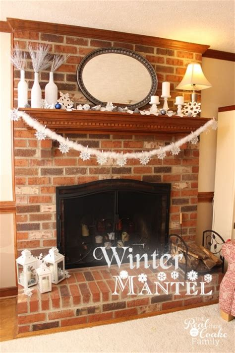 Christmas Fireplace Decorating Ideas mantel decor ideas for a winter mantel