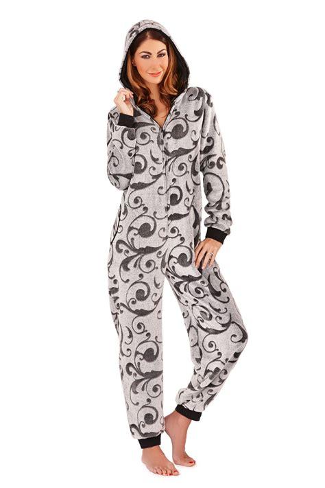 Hoodie Zipper Ninjas In Pyjamas womens snug onesie all in one fleece zip jumpsuit pyjamas nightwear