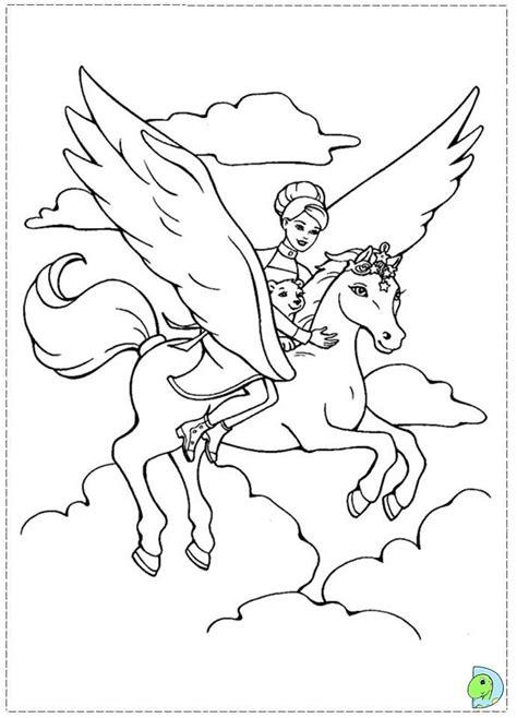 coloring pages of flying horses барби раскраски распечатать или скачать