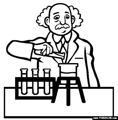 coloring book for scientists scientist coloring page free scientist coloring