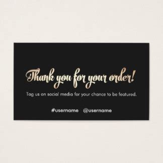 custom thank you for your business cards zazzle co uk
