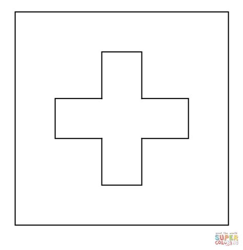 flag switzerland pantone coloring free printable coloring pages