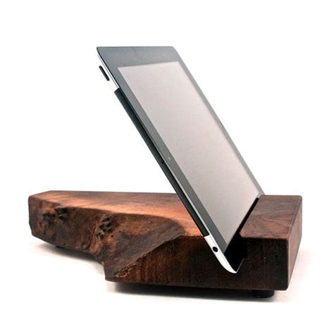 wood ipad stand  block sons  article