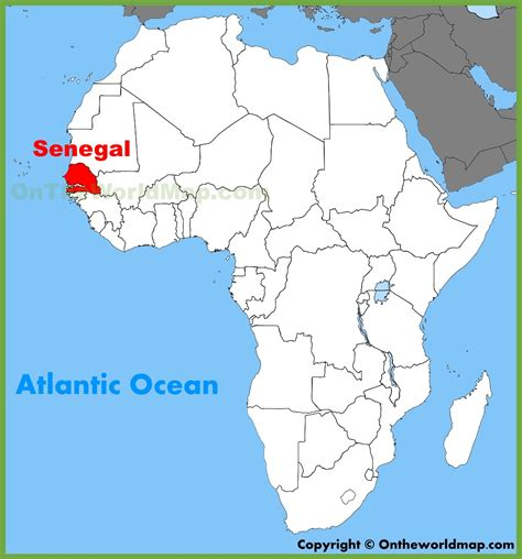 africa map senegal senegal location on the africa map