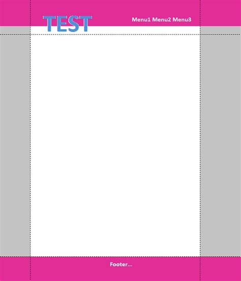layout web page without tables html how to design a web page with multiple color panes