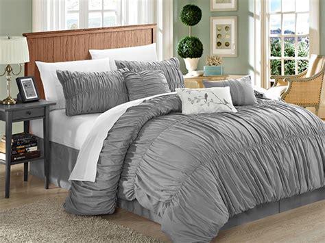 pleated comforter francesca 7 piece pleated comforter set