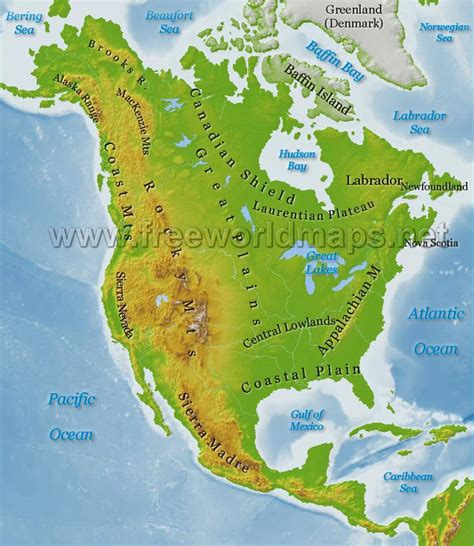 us geography map america physical map freeworldmaps net