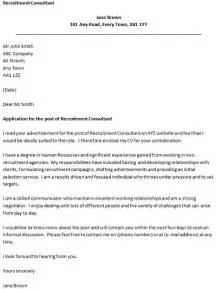 covering letter for vacancy recruitment consultant covering letter cover letters