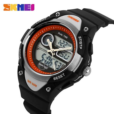 Dijamin Jam Tangan Digital Skmei Sport Rubber Led 1145 skmei 1055 fashion 50m waterproof student led electronic sport