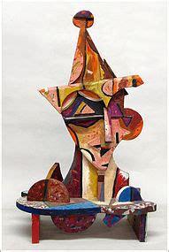 scanga woodworking untitled cubist of jester italo scanga item 960385