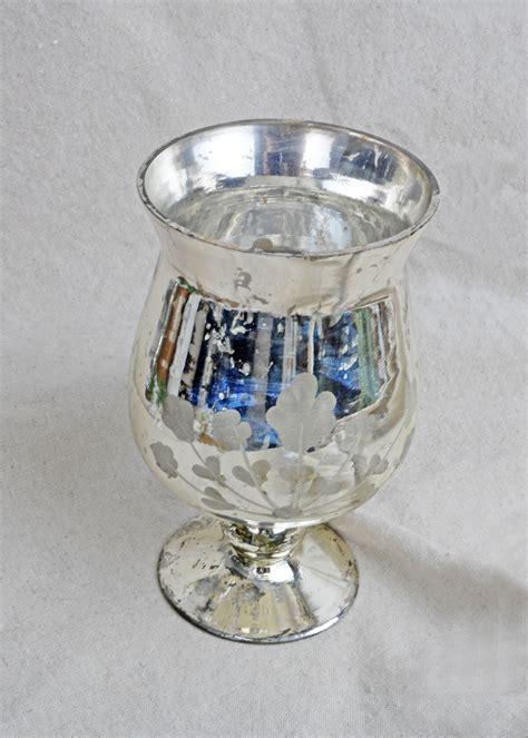 Mercury Glass Flower Vase by Mercury Glass Vase Fluted