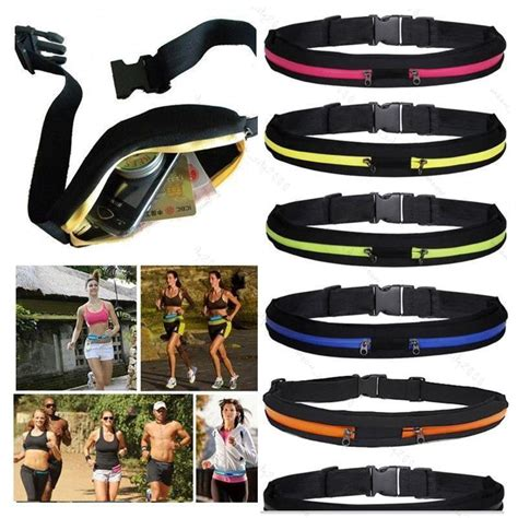 Waterproof Sports Belt With Single Pocket And Zipper Travel Pocket unisex sports running cycling waterproof waist