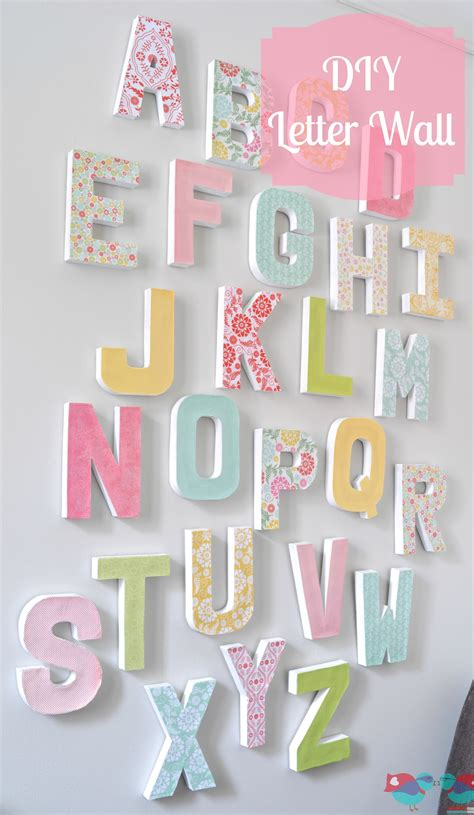 How To Make Paper Letters For Your Wall - how to make your own letter wall the nerds