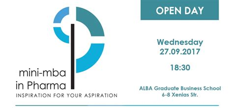 Mba Open Day by Quot Mini Mba In Pharma Quot Open Day Alba