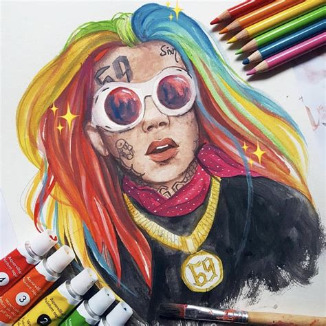 Drawing 6ix9ine by 6ix9ine 6ix9ine