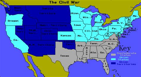 map of united states during civil war american civil war caign area and battle maps