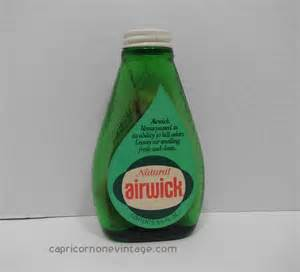 Air Freshener Glass Vintage 1960s Airwick Air Freshener Bottle With Wick Green