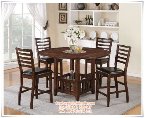Meja Makan Jati Minimalis 4 Kursi kursi makan jati meja bulat kursi meja makan jati