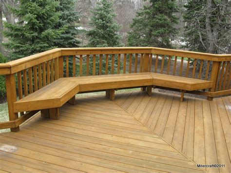 decks with benches benches decks home decoration club