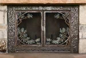 pine bough fireplace screen fillerup