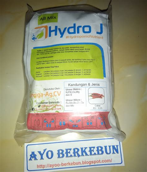 nutrisi hidroponik ab mix hydro j untuk cabe cabai ayo
