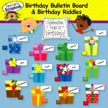 happy birthday corner design birthday bulletin board clip art by teachersscrapbook tpt