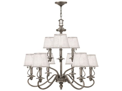 hinkley lighting plymouth collection hinkley lighting plymouth polished antique nickel nine