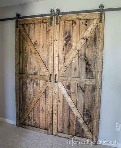 Diy Double Barn Door Plans Infarrantly Creative Sliding Barn Door Plans