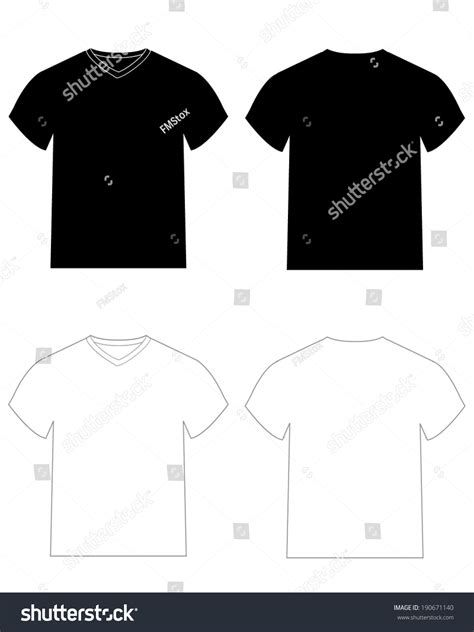 vector v neck and crew neck t shirt templates for mock ups