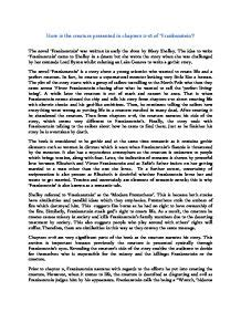 analysis of frankenstein narrative frankenstein mary shelley essay