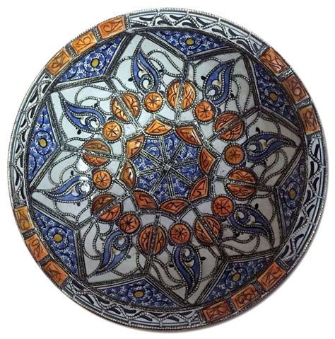 Moroccan Decorative Wall Plates by Moroccan Wall Decor Centerpiece Large Ceramic Bowl Plate