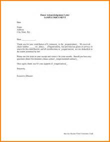 Employment Acknowledgement Letter Sle Receipt Letter Template 28 Images Exle Acknowledgement