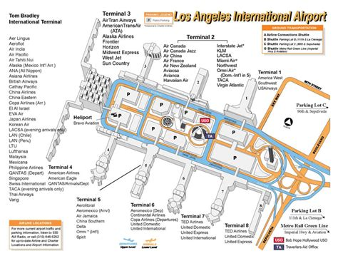 Los Angeles Terminal Map by Lax Terminal Map Circa Mid 2000s Throwback Thursday
