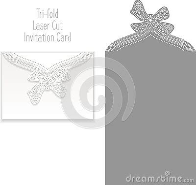 tri fold thank you card template tri fold laser cut invitation card stock illustration