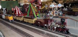 Steam train on the quot o quot gauge model train railroad layout at the texas