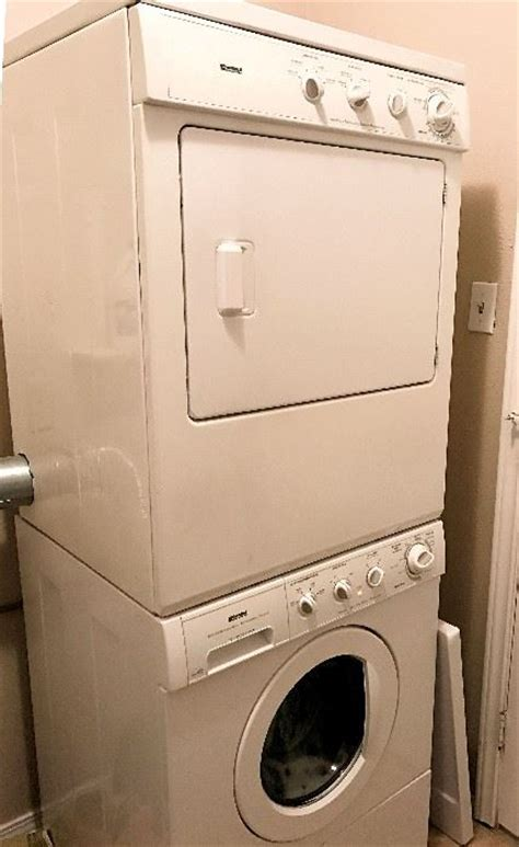 stackable washer and dryer sears estate tag sale inside home in denton tx starts on 3 24 2017