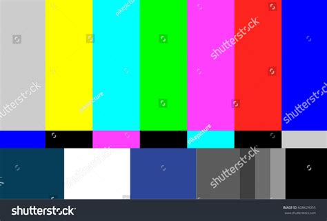 tv test pattern vector no signal tv test pattern vector stock vector 608623055
