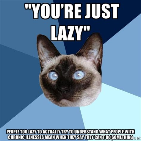 Lazy Day Meme - chronic illness cat lazy