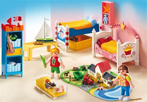 playmobil chambre enfant playmobil 5333 chambre des enfants avec lits achat