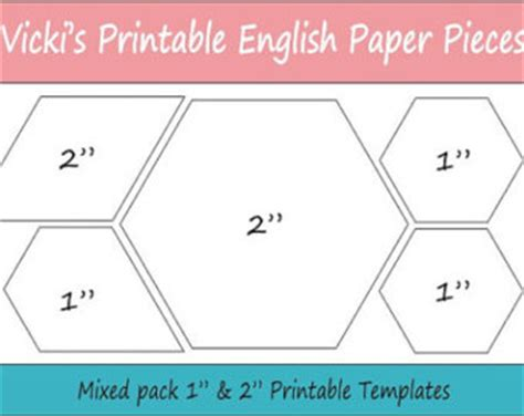 printable epp shapes hexie templates etsy