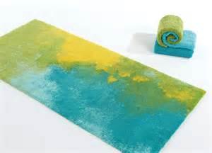 yellow blue rug abyss habidecor bali contemporary bath rugs in blue green