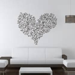 love heart flowers valentine wall art stickers decal transfers decals pinterest bedroom