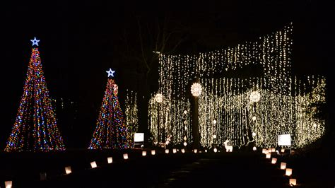huntsville botanical gardens galaxy of lights is all around in alabama