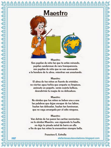 Poemas De Maestros | elefantes azules voladores poema al maestro francisco e