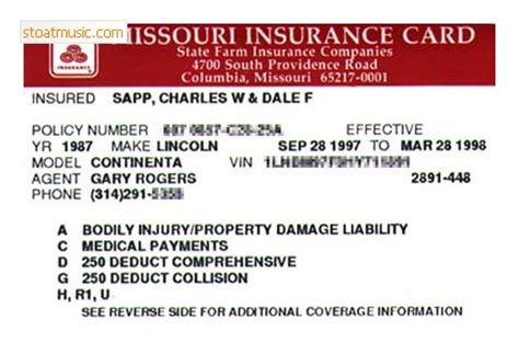 auto insurance card template state farm car insurance card template stoatmusic