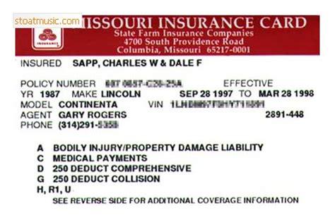 State Farm Car Insurance Card Template   stoatmusic.com