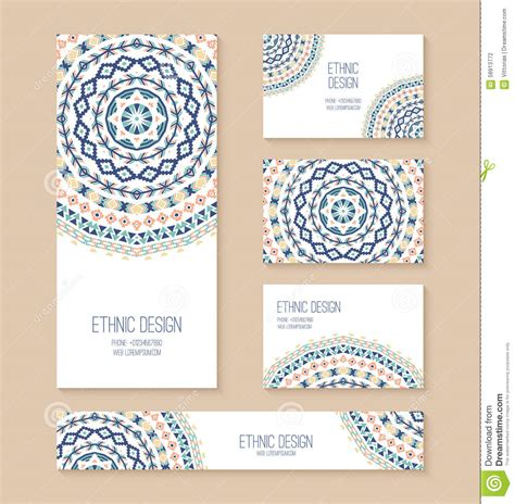 set of business card banner invitation card templates