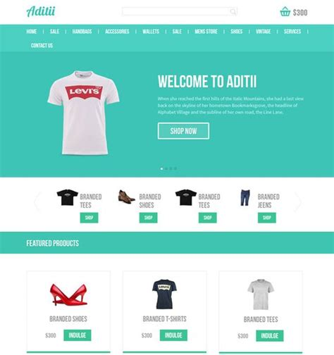 Free Html Css Templates Of The Week Html Css Web Design Freebies Free Responsive Ecommerce Website Templates