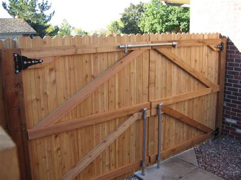 backyard fence door wood and metal decor google search landscaping