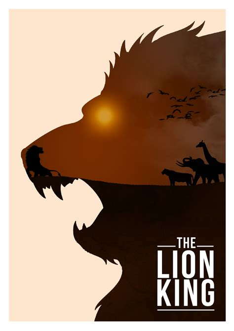 design is king disney images disney movie minimalist poster the lion